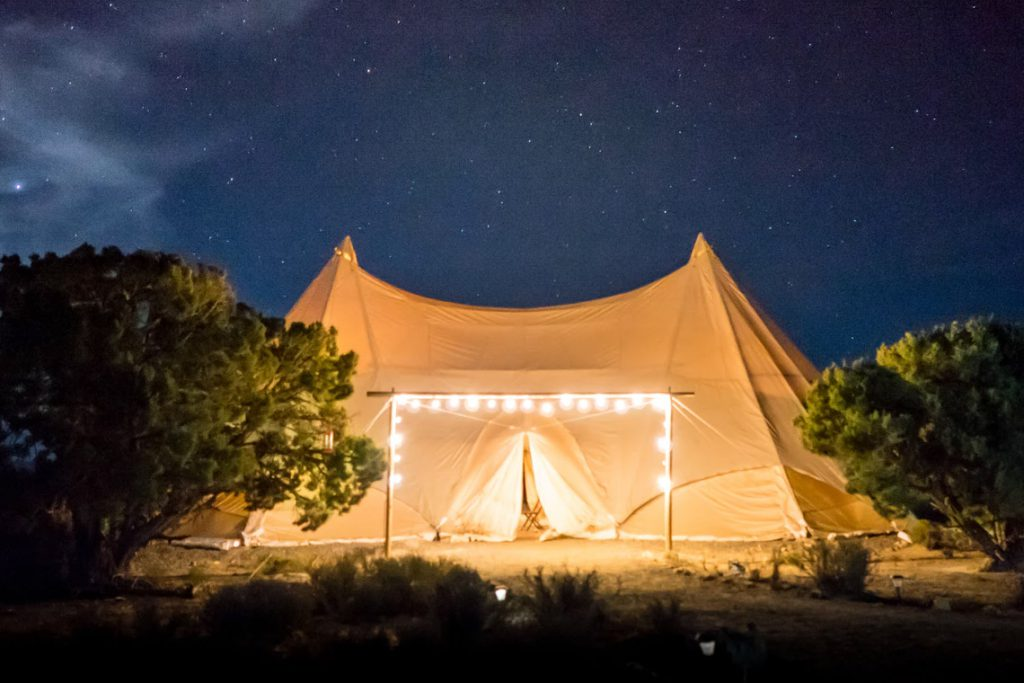If your description is right, a tent will work as an Airbnb