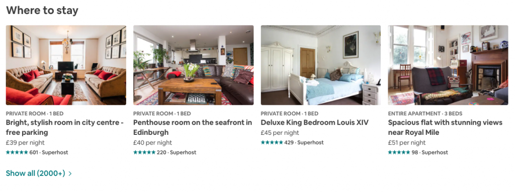 Airbnb Property Listing | Edinburgh