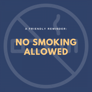 Airbnb smoking policy: no smoking allowed